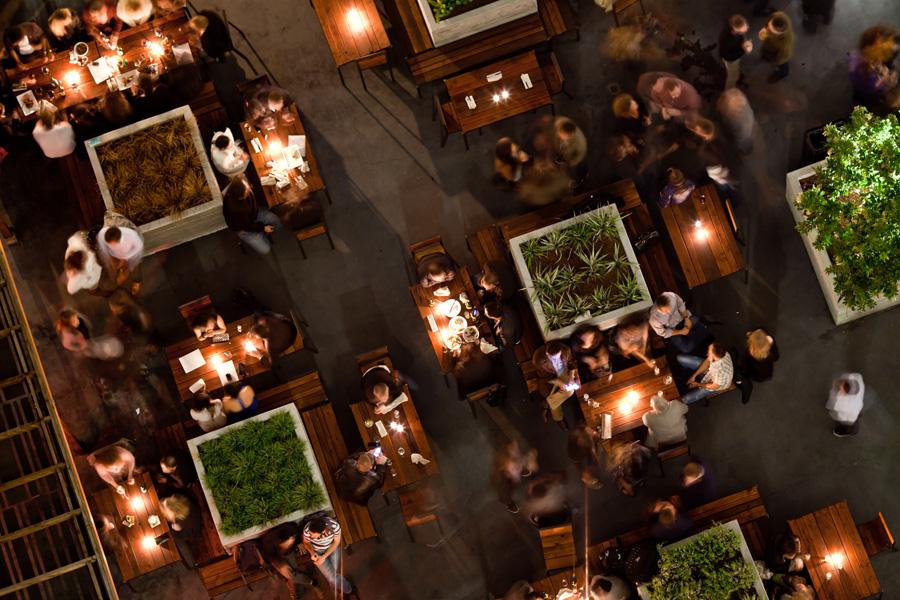 Photo of outdoor patio at Jones Bar in San Francisco