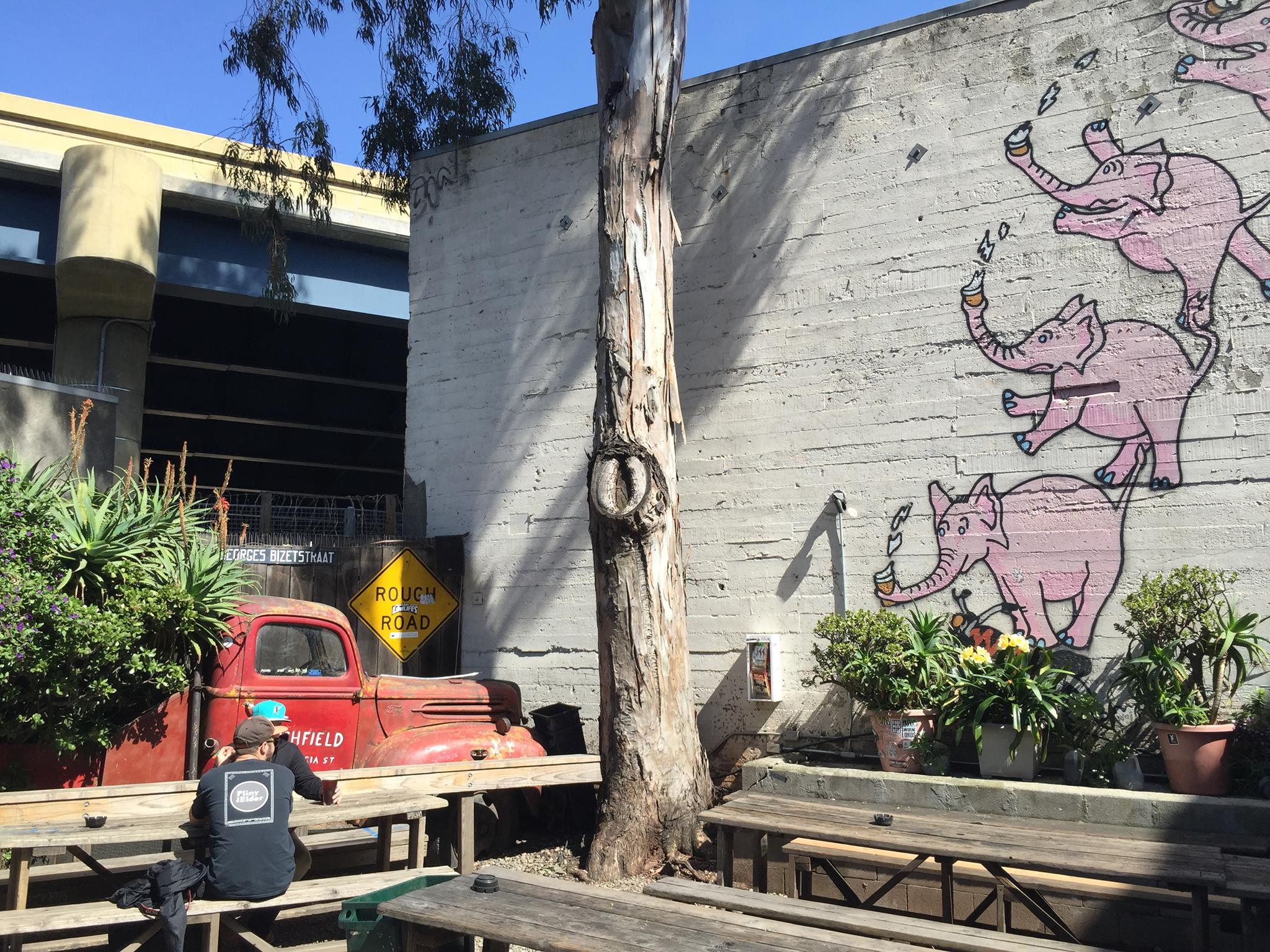 Photo of outdoor patio at Zeitgeist Bar in San Francisco